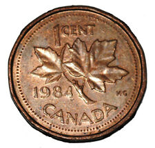 Canada 1984 1 Cent Copper One Canadian Penny Coin
