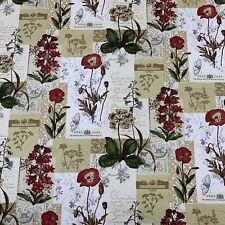 Wildflowers Cinnamon Fabric By Prestigious Textiles
