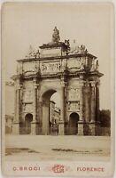 Italia Florence Arco Di Triomphe Foto PL17c1n26 Cartolina Foto Vintage Albumina