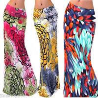 BOHO Hippy Women Summer Floral Long Maxi Skirt Beach Waist Skirt Dress Sundress
