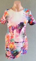💜 LIPSY Short Sleeve Shift Dress Multicolor Size 12 Buy7=FreePost L807