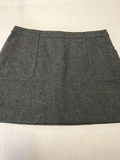 J. Crew Gray Wool Skirt Size 10