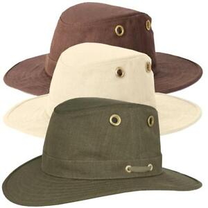 Tilley TH5 Medium Curved Brim Hemp Hat Natural Beige Olive Green Brown Mocha