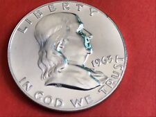 1963 P 50c Proof Franklin 90% Silver Half Dollar Beautiful Coin - Detail Lines