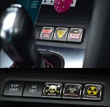 Set 6 Funny Car Interior Decoration Panel Button Sticker   Cool Car Switch Decal