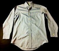 Brooks Brothers Mens Blue Polka Dot Front Pocket Button Front Shirt Size 15-32