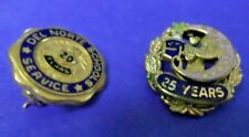 Two SERVICE AWARD Pins ~ 20 and 25 Years