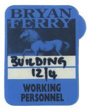 Bryan Ferry - Konzert-Satin-Pass Working Personnel - Schönes Sammlerstück