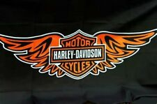 HARLEY DAVIDSON FLAG BANNER BIRTHDAY GIFT AUTO MOTORCYCLE BIKE BAR 5ftx3ft