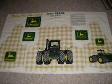 John Deere tractor adult vest panel long OOP cotton fabric