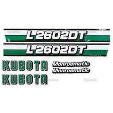 New Kubota L2602DT Decal Set