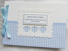 PERSONALISED BABY CHRISTENING PHOTO ALBUM GUEST BOOK