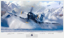 Devotion Matt Hall Art Print Autographed by MOH recipient Thomas Hudner
