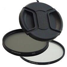 DynaSun Filtre Ultra Violet 62mm UV + Polarisant Circulaire CPL + Bouchon 62 mm