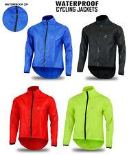 Mens Cycling Jacket Waterproof High Visibility Running Top Rain Coat Size S-2XL