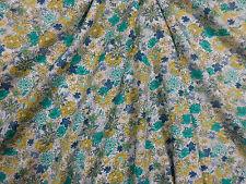 Stoff Viskose Fein Jersey Blümchen floral Blumenmuster türkis weiß Meterware 50c
