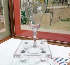 "CAMBRIDGE GLASS CRYSTAL #300 CAPRICE 7 1/2"" WATER GOBLET 1936-1958"