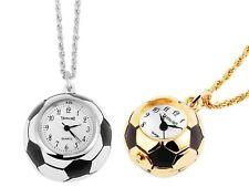 pequeño Reloj de bolsillo con cadena, Fútbol colgante, Collar reloj,