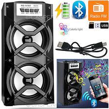 Outdoor Portatile Bluetooth Wireless con Altoparlanti Stereo SUPER BASS CON USB/TF/FM Radio