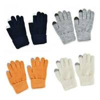 Unisex Winter Warm Wool Knitted Gloves Touch Screen Texting Outdoor Mittens New
