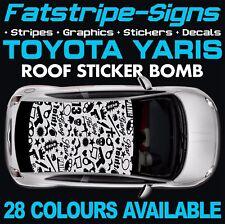 TOYOTA YARIS GRAPHICS STICKERS STRIPES DECALS TRD XP10 XP90 XP130 STICKER BOMB