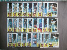 1984 Topps Nestle Baseball Cards Complete Team Set Toronto Blue Jays