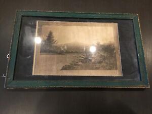 Vintage Silk Print 1870's Mt Rubidoux California Artist Julian Rex C90