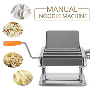 Manual Pasta Spaghetti Dough Cutter Noodle Maker 3Blades Stainless Steel 6 Gear
