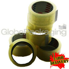 144 Rolls Low Noise Clear Packing Parcel Tape 48mmx66m