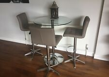 Dwell Palermo bar table - clear - mint condition