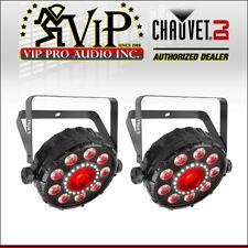 (2) Chauvet FXpar 9 Multi-Effect LED PAR Light Strobe RGB + UV Lighting Fixture.
