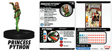 Heroclix Deadpool/X-Factor #040 PRINCESS PYTHON, 025 DIAMONDBACK, 011 ASP Lot