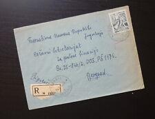 Slovenia 1958 Yugoslavia Cover Sent from Teharje to Belgrade Serbia B9