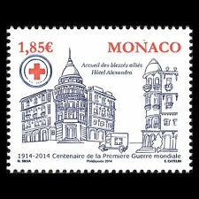 Monaco 2014 - 100th Anniv of the Beginning of World War I Architecture - MNH