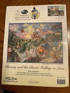 The Dreams Collection Thomas Kinkade Beauty And The Beast Cross Stitch Kit BNIP