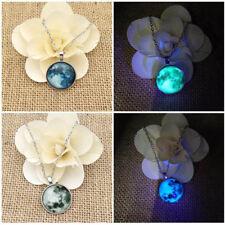 Leuchtende Sterne Anhänger Halskette Cabochon Glas Halskette Geschenk