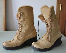 Women's Sketcher Fashion Snow Boots,  Sand (10)