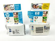 Hewlett Packard HP-57 58 Tri Color Inkjet Print Cartridge Expired 2004 Lot of 4