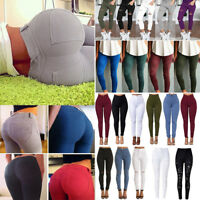 Womens High Waisted Slim Skinny Pencil Pants Denim Jeans Ladies Trousers Legging