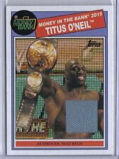 Titus O'Neil 2015 Topps WWE Heritage MITB Authentic Mat Relic Game Used Rare