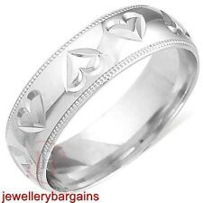 9 Carat Wedding Band White Gold Fine Rings