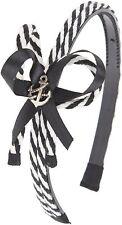 Nautical Molly Sailor Rope anchor Bow Ribbon capelli maturi/Hairband Rockabilly