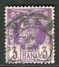 ROMANIA;  1885 early Prince Carol issue fine used 3b. value, fair Postmark