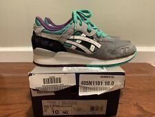 "Asics Gel Lyte III ""Grape"" Grey White Teal Purple H405N-1101 Size US 9.5"