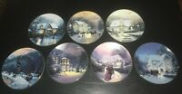 (7) Edwin M. Knowles HOME FOR THE HOLIDAYS by Thomas Kinkade Collector's Plates