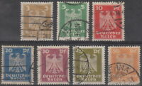 Stamp Germany Reich Mi 355-61 Sc 330-6 1924 Imperial Eagle Deutsches Berlin Used