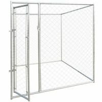 vidaXL Outdoor Dog Kennel 6'x6' Large Chain Link Fence Pet Enclosure Run House