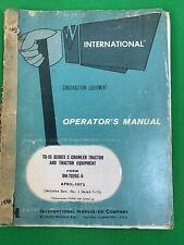 International Td25 Series C Crawler Tractor Operator's Manual, Om Td25C 6