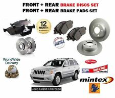 FOR JEEP GRAND CHEROKEE 2005-> FRONT & REAR BRAKE DISCS SET & DISC PADS KIT