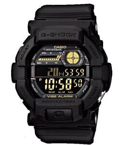 Casio G-Shock Digital Mens Black/Gold Vibration Alert Watch GD350-1B GD-350-1BDR